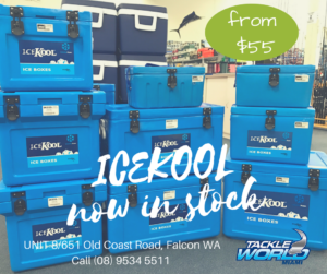 Tackle World Miami now your Ice Kool ice box dealer for the Peel region