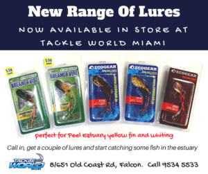 Tackle World Miami for fishing lures