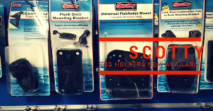 Scotty rod holders available from Tackle World Miami