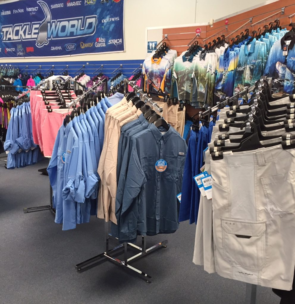 Tackle World Miami apparel brands - Tackleworld,bigfish,Columbia,madhueys,shimano,samaki