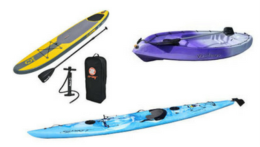 Kayaks and Paddleboards from Tackle World Miami