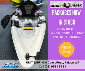 Cool Kayak packages from Tackle World Miami WA