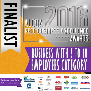 Tackle World Miami WA were finalists in the 1026 Peel Business Excellence Awards